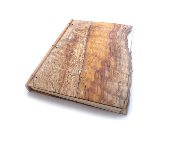 9x10 Live Edge Maple Journal Wooden Notebook Wood Guestbook image 0