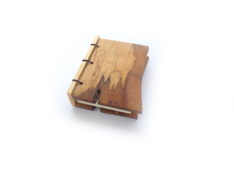 Mini Maple Journal Wooden Notebook Wood Guestbook Gratitude image 0