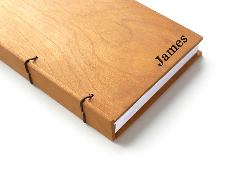 Cherry Wood Journal Personalized Journal Wooden Notebook image 0