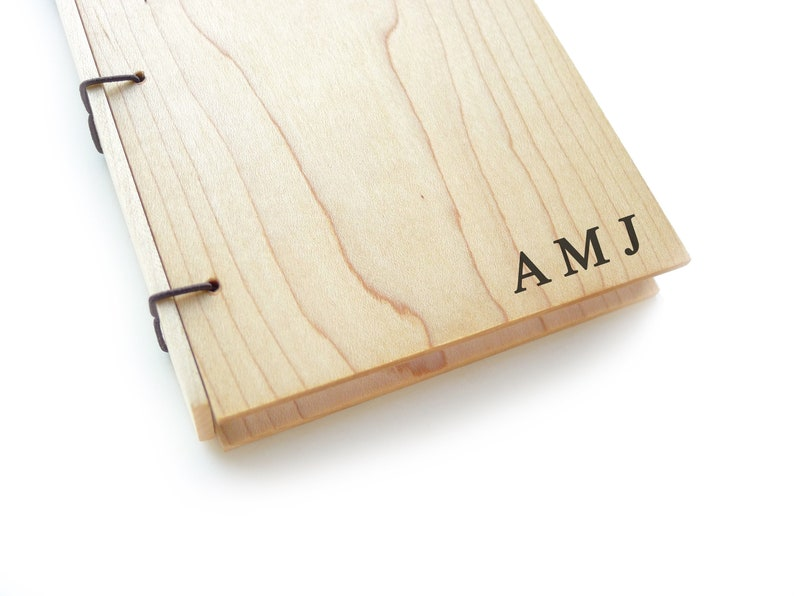 Maple Wood Journal Personalized Journal Wooden Notebook image 0