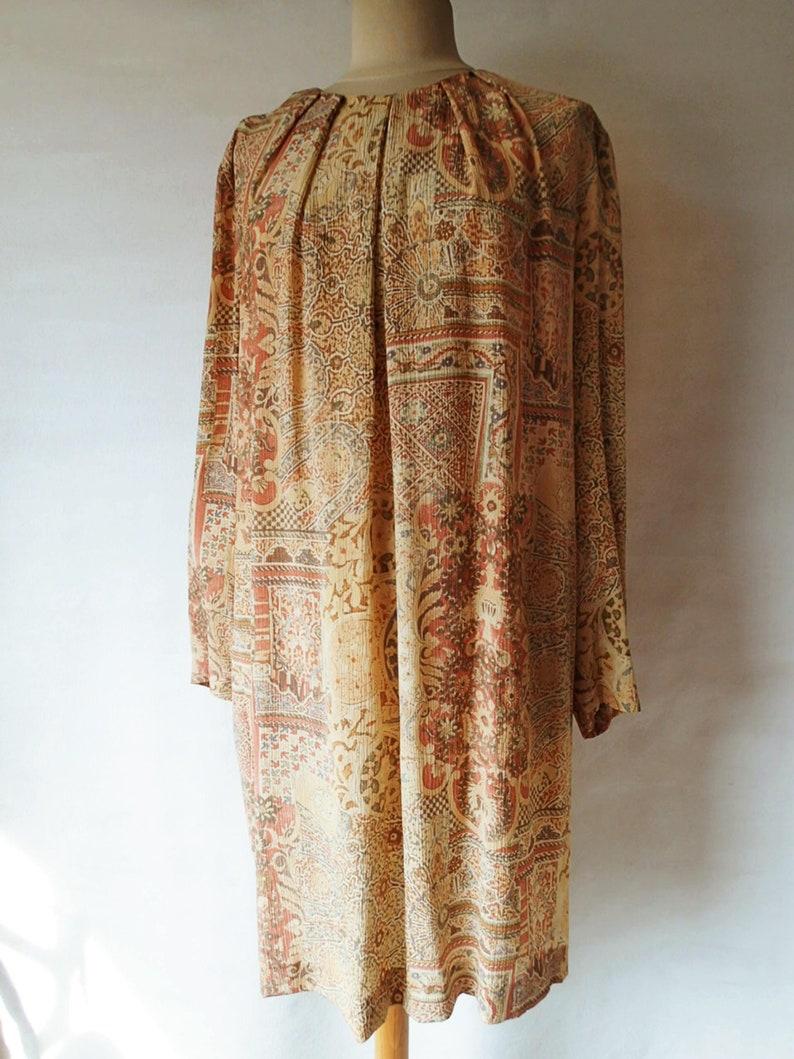 2c733aba125 Shift dress long sleeves vintage wedding guest dress