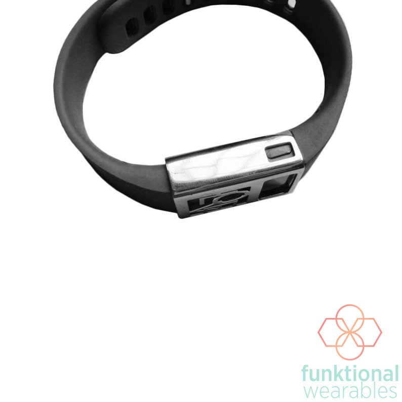 Premium Unisex Stainless Steel Fitbit ChargeCharge HR Cover LOVE CHARGED Metal Cover to Protect /& Enhance Your Fitness Activity Tracker