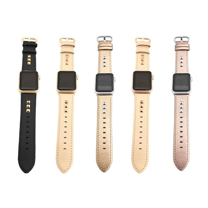 8253018a200 Funktional Wearables Genuine Leather Studded Apple Watch
