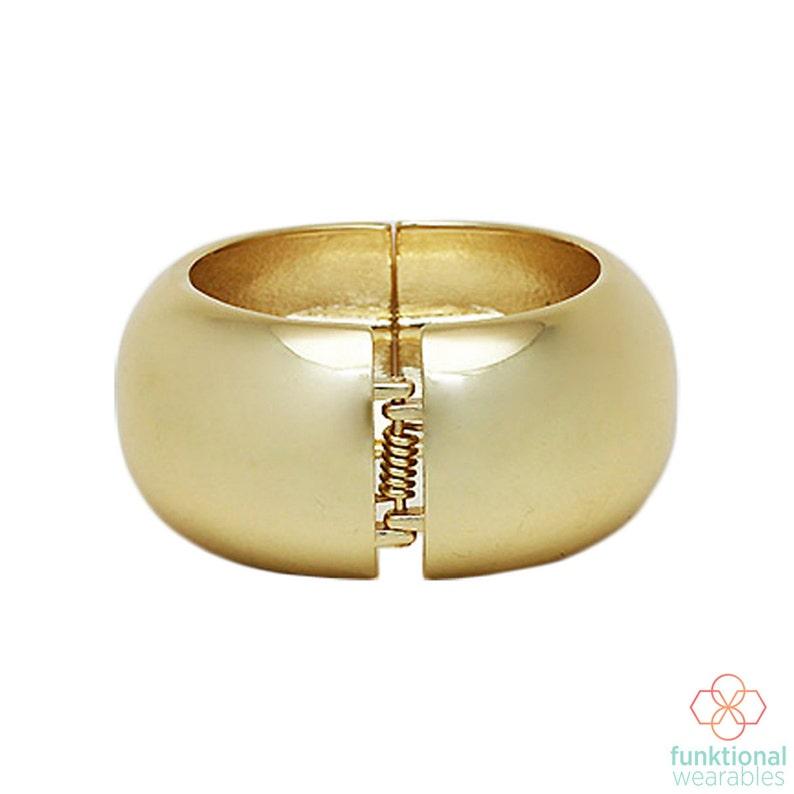 Activity Tracker Bracelet for VivoFit Trackers The EVELYN Shiny Gold Hinge Bangle VivoFit Bracelet for Small Wrists Shipping FREE U.S