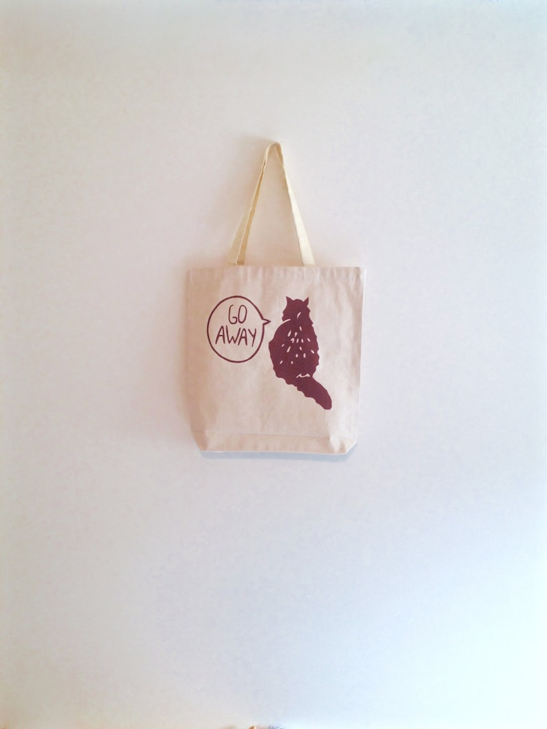 stocking stuffer brown cat canvas tote bag natural colored tote holiday gift reusable grocery bag crazy cat lady gift for cat lover