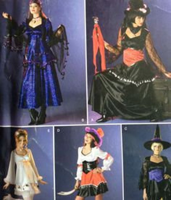 Womens Witch Angel Costume Sewing Pattern Simplicity 0547 | Etsy