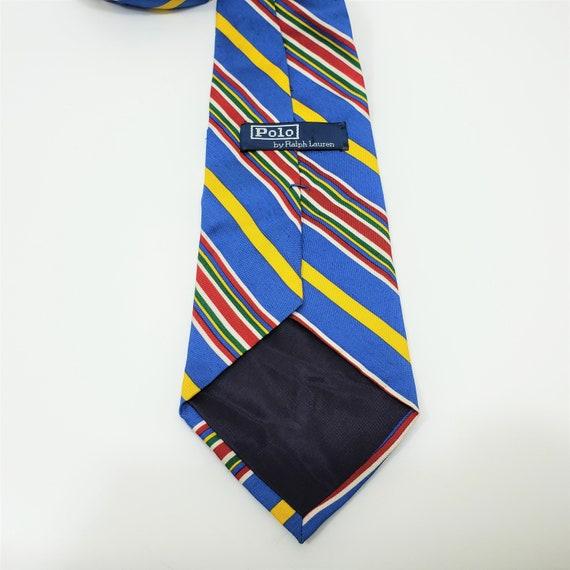 Vintage Polo Ralph Lauren 100% Silk Tie Stripe Bl… - image 3