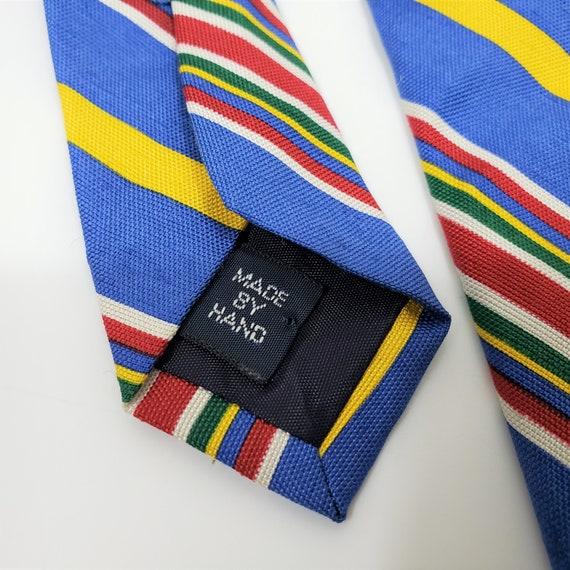 Vintage Polo Ralph Lauren 100% Silk Tie Stripe Bl… - image 4