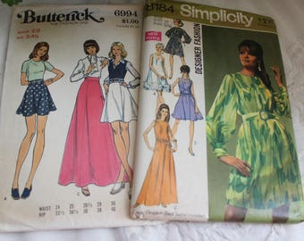 Vintage MID CENTURY PATTERNS Lot of Two, 1960s 1970s