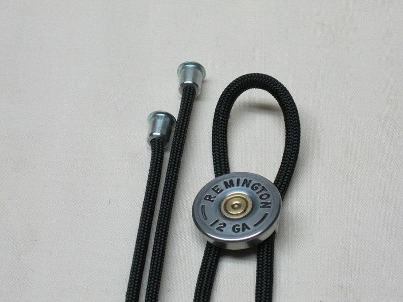 Shotgun Shell Bolo Tie Remington Nickel 12 Ga for Men