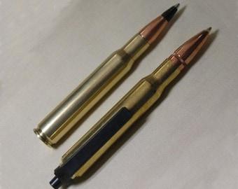 "Bullet Pen Set 30-06 Mini Combo - Retractable Bullet Pen 3 3/4"" and Non-Retractable Bullet Pen 3 1/2"""