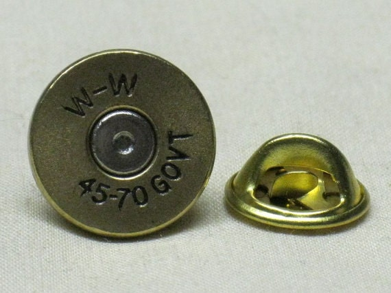 WINCHESTER  45 COLT   Cartridge  Hat or Jacket  Pin  Tie Tac Bullet Ammo