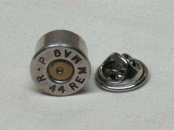 Bullet Remington 44 Magnum Nickel   Mens Accessories  Handmade Tie Bar Tie Clip