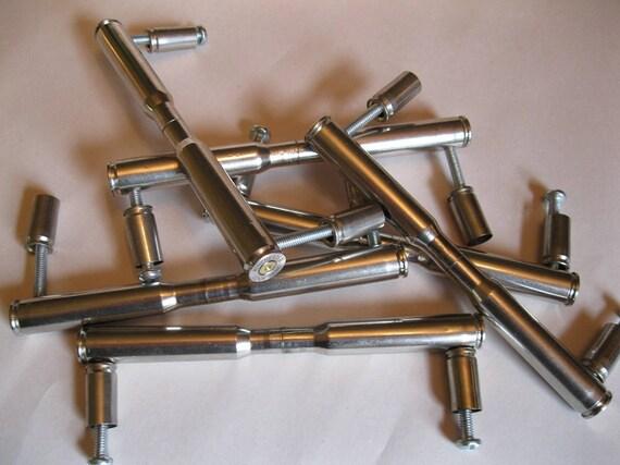 7 DOUBLE NICKEL 30 06 Bullet Kitchen Cupboard Door Handles   Etsy