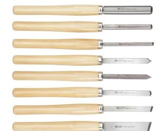 Big Chisels Wood Turning Lathe Set Lathes Woodworking Pro Kit Etsy
