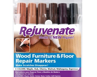Wood Furniture Cabinet and Floor Repair Markers Rejuvenate match espresso oak maple cherry walnut and mahogany fill scratches quick drying