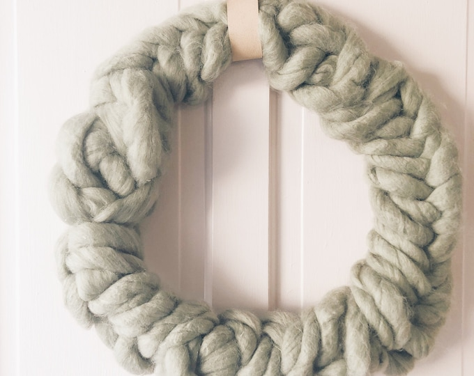 Featured listing image: Sage Green Braided Wreath