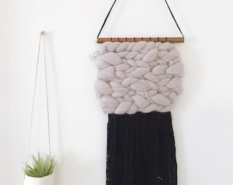 Gray & Black Chunky Weaving