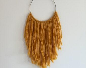 Mustard Hoop Dreamcatcher