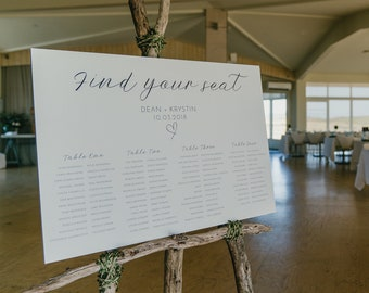 Wedding Seating Chart Simplistic, printable, digital file
