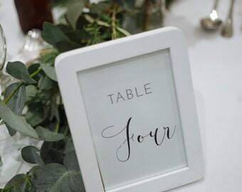 Table Numbers, Minimalistic Design, printable, digital file