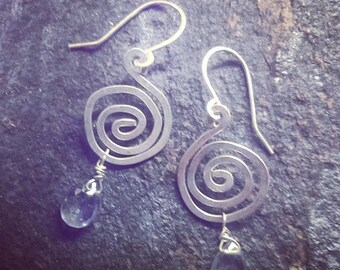 Iolite Swirl Earrings