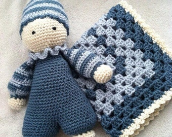 Big 10 Cuddle Baby and Lovey Set