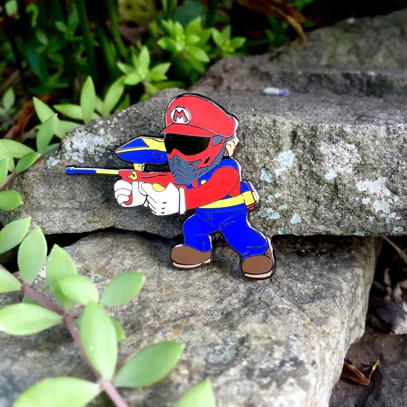 Super Mario Paintball Hat Pin