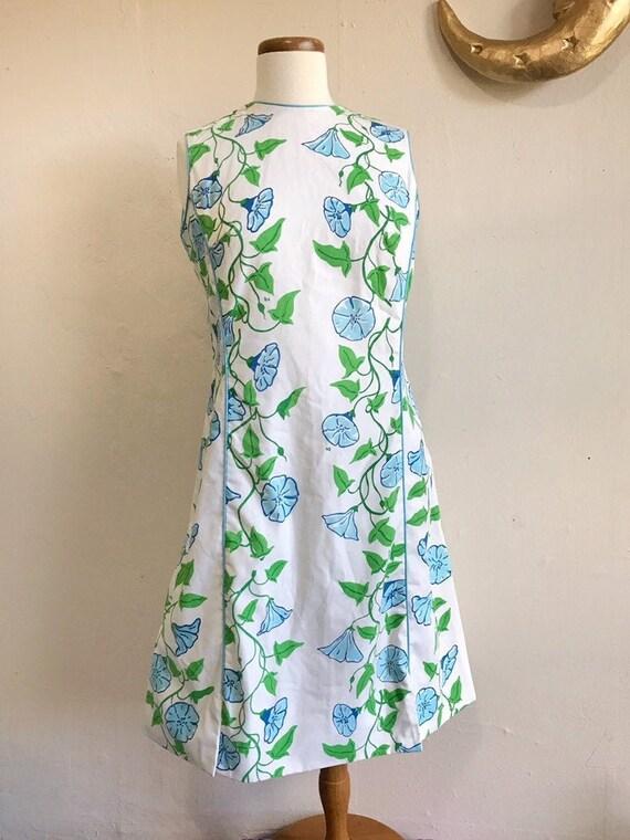 Vintage Blanche Dress | 60s Vested Gentress Floral