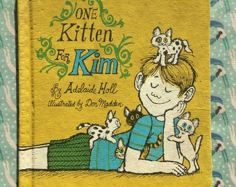 Vintage Kids Book | One Kitten for Kim by Adelaide Holl | Kids Picture Book