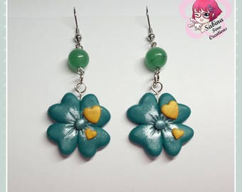Fimo Clover Earrings