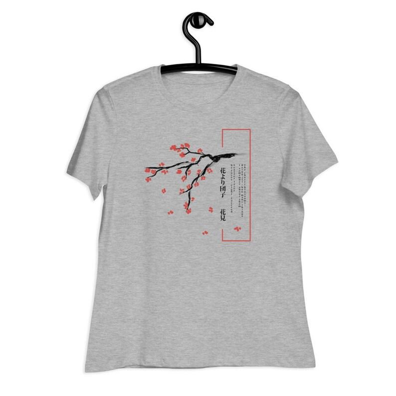 Women/'s T-shirt,Aesthetic Shirt,Japanese Shirt,Cherry Blossom Shirt,Aesthetic Clothing,Japanese Shirt,Kawaii,Cute Japanese Blossom Shirt