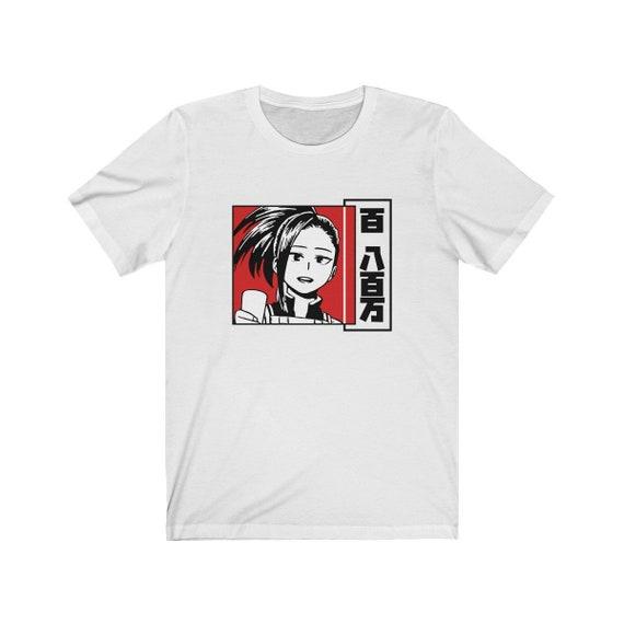 Momo Yaoyorozu Shirt My Hero Academia Shirt Boku No Hero Momo Shirt Anime Tee Manga Shirt Shoto Todoroki Katsuki Bakugou Unisex Tee