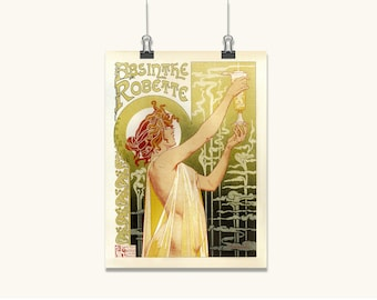 ART DECO POSTER French Art print home decor wall art Art Deco Wall Art posters Large Poster French Style Absinthe