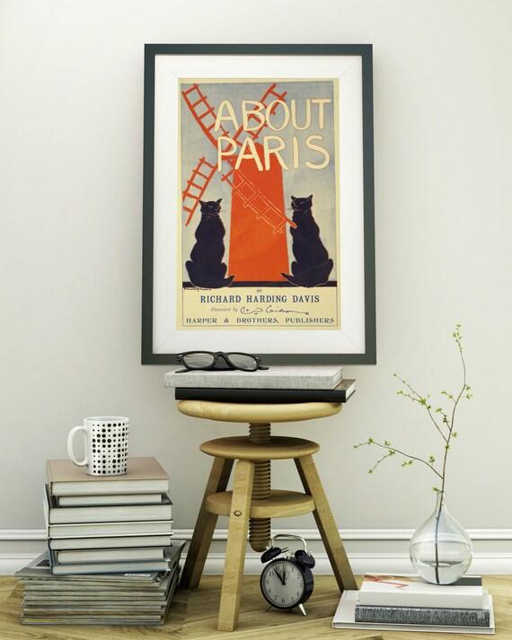 Vintage Retro Franzosischen Shabby Chic Jugendstil Poster Old Etsy