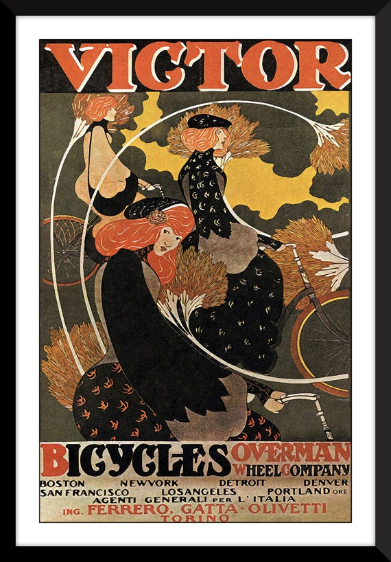 Bicycle Posters Art Canvas Wall Art Home Decor Cycle Wall Etsy