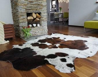 exotique peau de vache tapis petit tapis vache cacher blanc noir et marron tapis doux cheveux - Tapis Vache