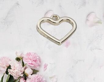 Heart Charm Pendant Gold