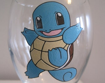 Squirtle wine glass