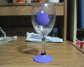 lumpy space princess wine glass