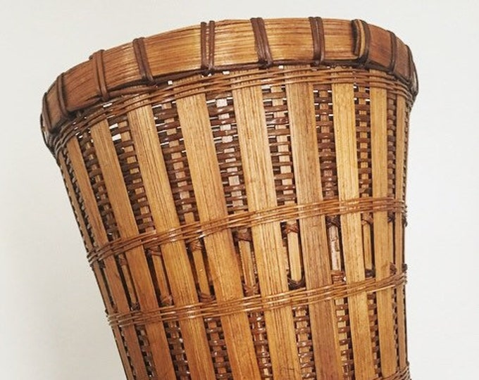 Large Woven Planter / Bohemian Indoor Plant Holder / Large Basket Garbage Can or Planter