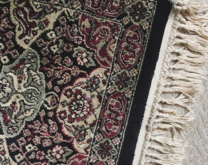 Vintage Flat Weave Hand Woven Rug / Small Persian Rug / 3ft X 2ft / Farmhouse or Bohemian Home Decor