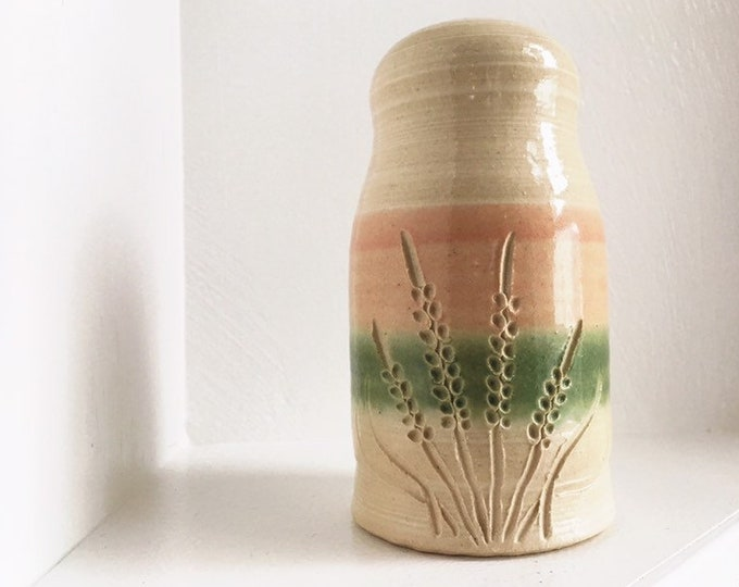 Handmade Studio Pottery Bud Vase / Earthy Floral Decor / Farmhouse or Rustic Home and Wedding Decor