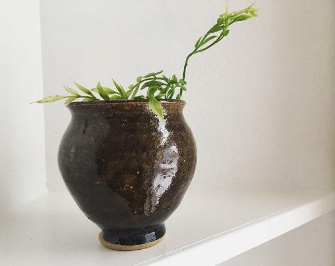 Small Ceramic Vessel / Vintage Studio Pottery Bud Vase / Minimalist Home Decor