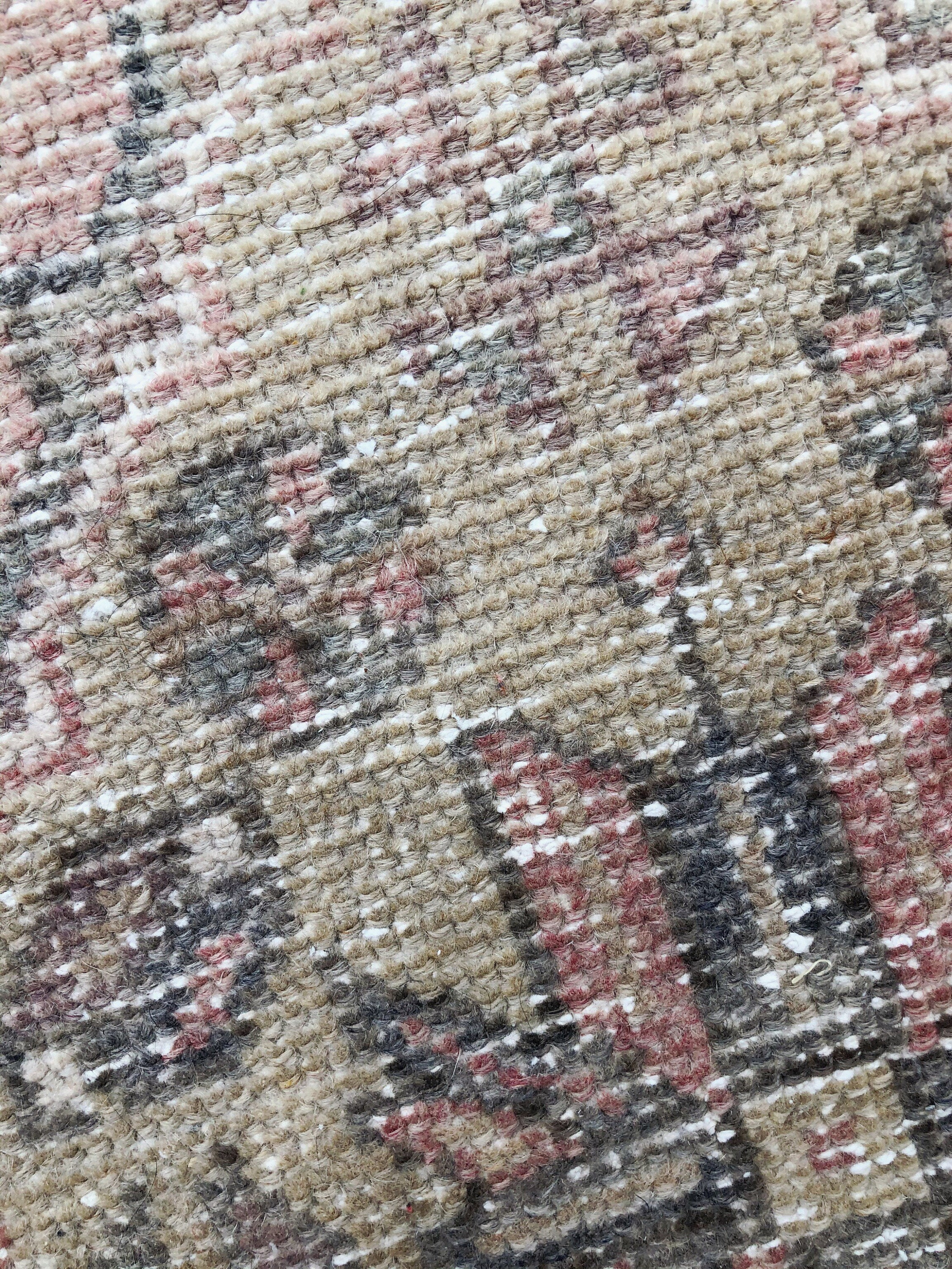 Small Faded Pink Vintage Turkish Rug 3ft By 1 5ft Hand