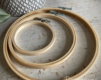 """Bamboo embroidery hoop 3"""", 4"""", 5"""", 6"""", 7"""", 8"""", 9"""", 10"""", 12"""", 14"""" to choose from"""