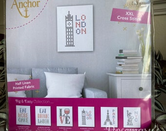Stitch Your Own London Big and Easy Cross Stitch Kit by Anchor