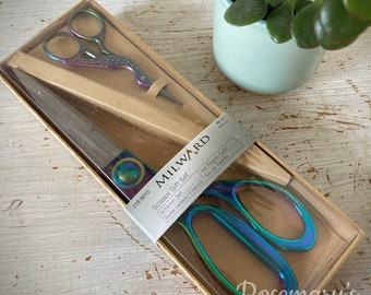 Gift Set Stork Rainbow Dressmaking 20cm and Embroidery Sewing 9.5cm Scissors by Milward
