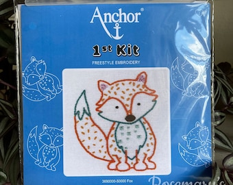Stitch Your Own Fox Embroidery 1st First Kit by Anchor
