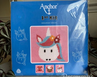 Stitch Your Own Unicorn Needlepoint Tapestry 1st First Kit by Anchor
